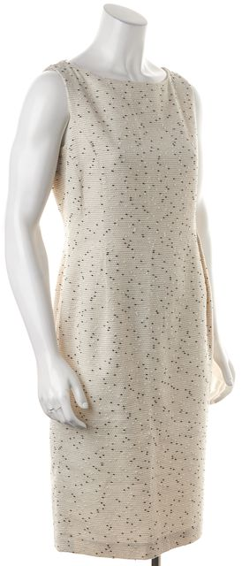 L.K. BENNETT White Beige Black Erin Sheath Dress