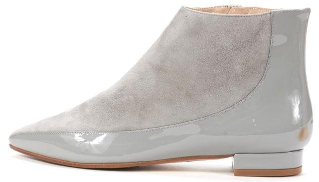 L.K. BENNETT Gray Suede Ankle Boots