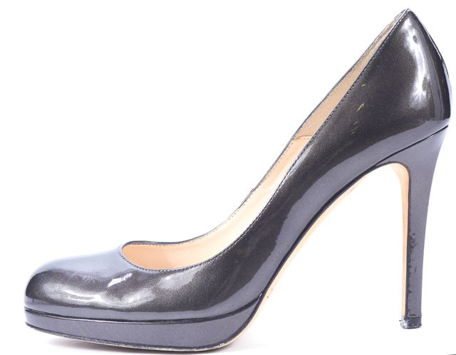 L.K. BENNETT Gray Patent Leather Platform Heels