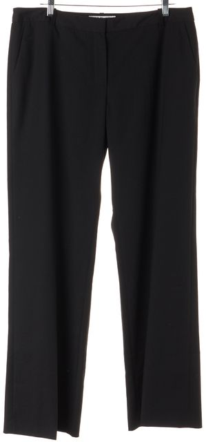 L.K. BENNETT Black TR/Jodie Wide Leg Dress Pants