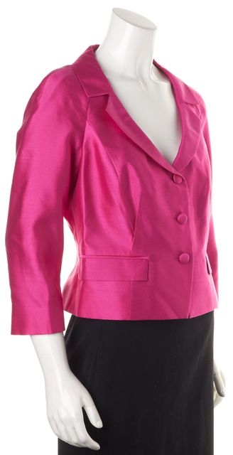 L.K. BENNETT Hot Pink Wool Cleo Jacket