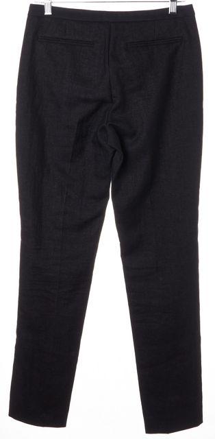 L.K. BENNETT Dark Navy Night Sky Two Tone Linen Dress Pants