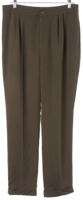 L.K. BENNETT Parka Green Melodie Trouser Dress Pants