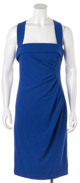 L.K. BENNETT Cobalt Blue Iley Knee-Length Sheath Dress