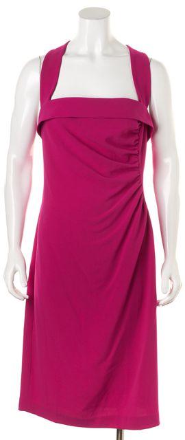 L.K. BENNETT Raspberry Pink Iley Knee-Length Sheath Dress