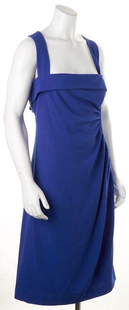 L.K. BENNETT Cobalt Blue Knee-Length Iley Sheath Dress