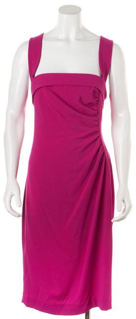 L.K. BENNETT Fuchsia Pink Knee-Length Iley Sheath Dress