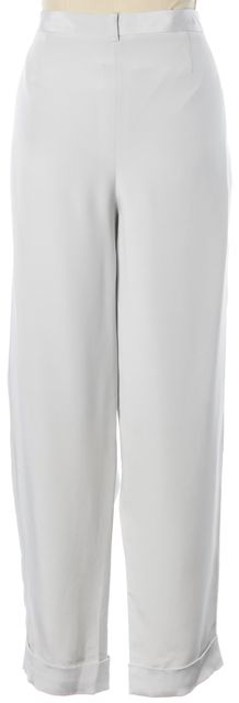 L.K. BENNETT Crystal Gray Silk Clio Trousers Dress Pants