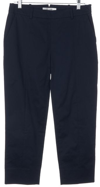 L.K. BENNETT Navy TR/Lolita Cropped Pants