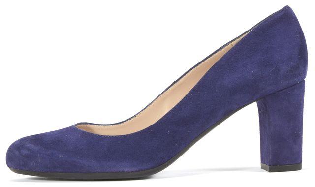 L.K. BENNETT Blue Suede Pump Heels