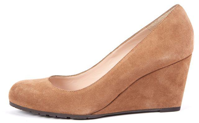 L.K. BENNETT Brown Suede Platforms & Wedges Heels