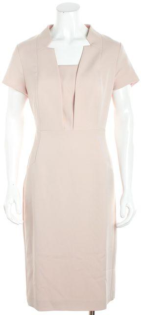 L.K. BENNETT Baby Pink Knee Length Sheath Dress