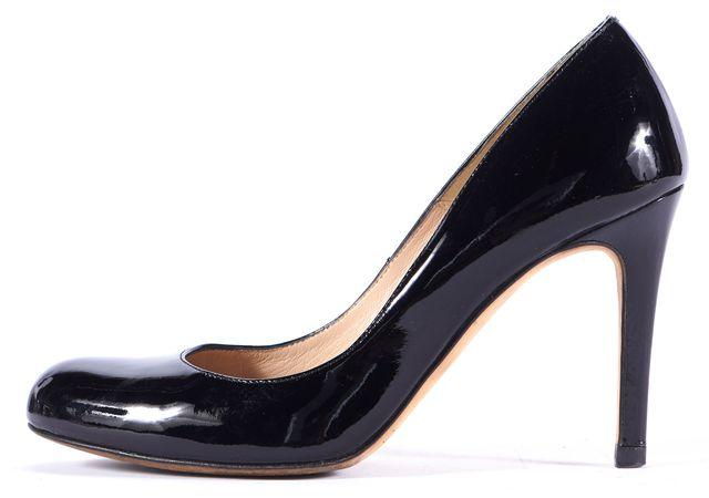 L.K. BENNETT Black Patent Leather Round Toe Pump Heels Size Us 6 It 36