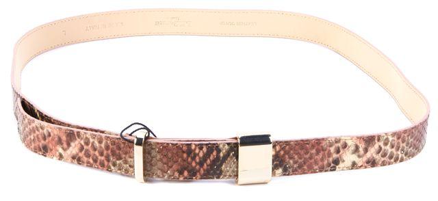L.K. BENNETT Rose Snake Embossed Leather BT/Anna Belt