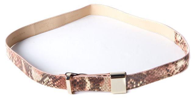 L.K. BENNETT Brown Animal Print Snakeskin Leather BT/Anna Belt