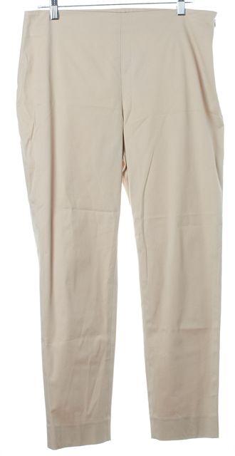 LELA ROSE Beige Khaki Casual Pants