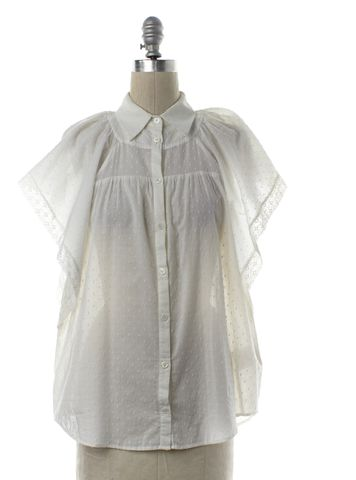 LOVE MOSCHINO White Cotton Lace Trim Button Down Shirt