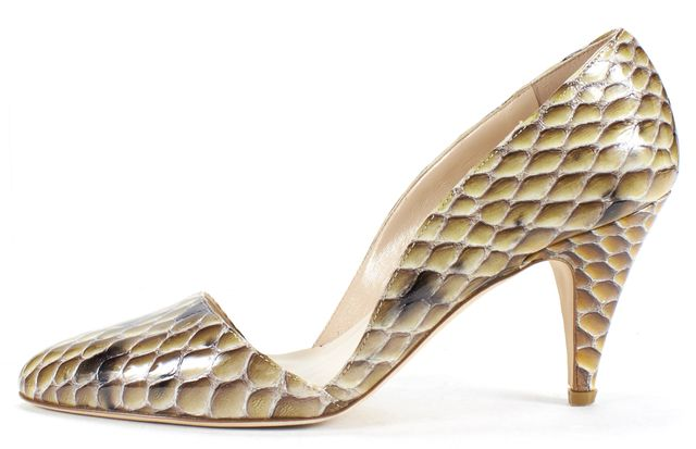 LOEFFLER RANDALL Multi Color Python Embossed Leather D'Orsay Heels