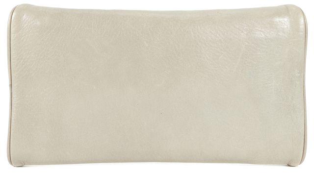 LOEFFLER RANDALL Gray Leather Studded Envelope Clutch Bag