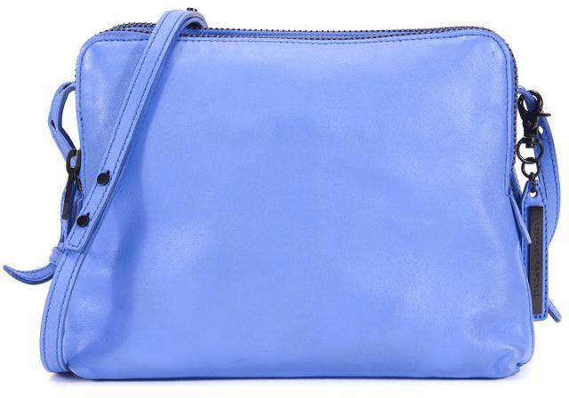 LOEFFLER RANDALL Blue Leather Multi Zip Crossbody Bag