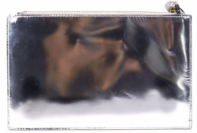 LOEFFLER RANDALL Silver Small Leather Clutch