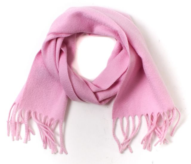 LORO PIANA Pink 100% Cashmere Fringe Scarf