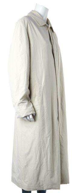 LORO PIANA Beige Full Length Lightweight Trench Coat Jacket