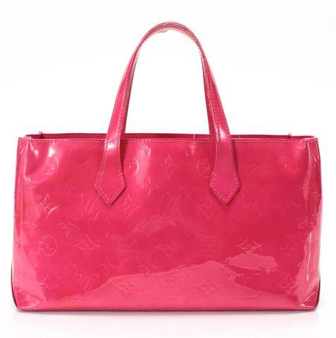 LOUIS VUITTON Framboise Pink Monogram Vernis Wilshire PM Tote Handbag