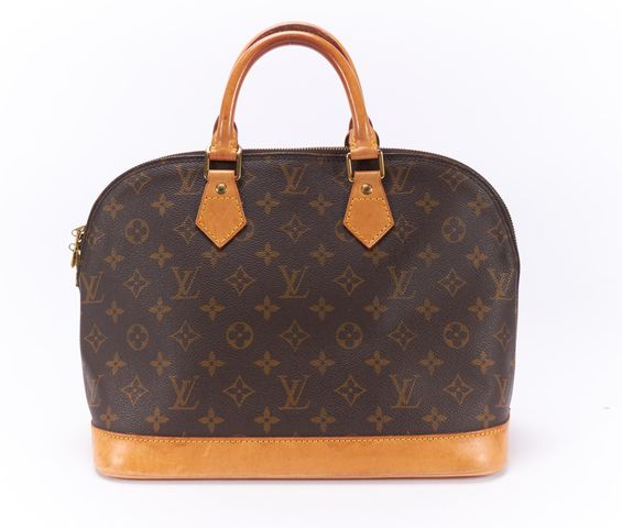 LOUIS VUITTON Brown Monogram Canvas Alma PM Top Handle Handbag