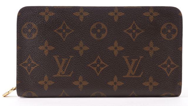 LOUIS VUITTON Brown Monogram Canvas Zippy Zip Around Long Wallet