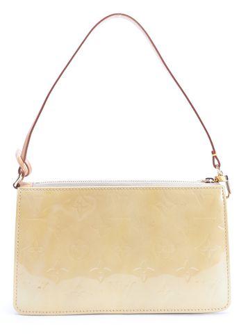 LOUIS VUITTON Yellow Monogrammed Vernis Leather Lexington Shoulder Bag
