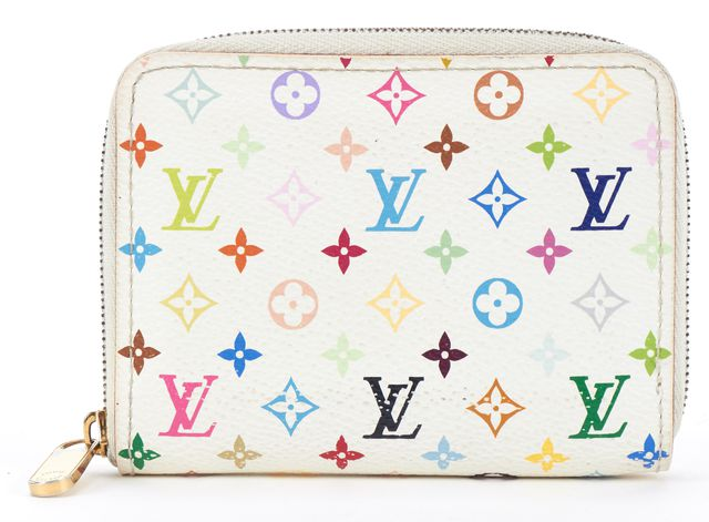 LOUIS VUITTON White Multi Monogram Multicolor Zippy Coin Purse Wallet