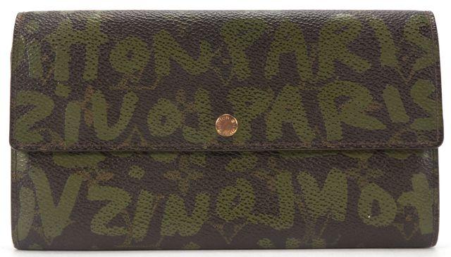 LOUIS VUITTON Brown Monogram Graffiti Sarah Long Wallet