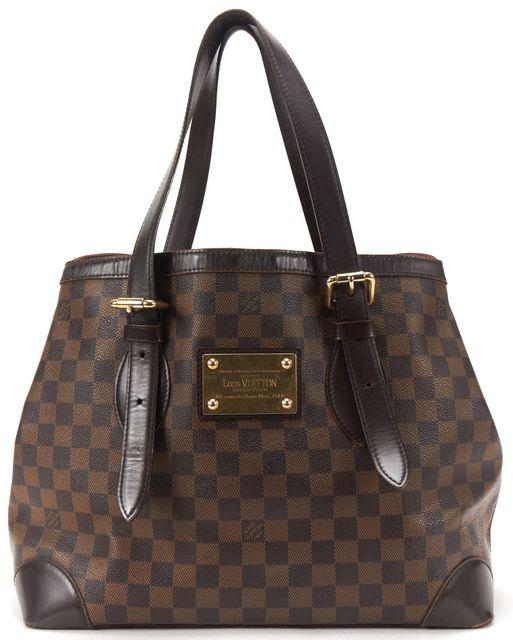 LOUIS VUITTON Brown Damier Ebene Canvas Hampstead MM Tote Handbag