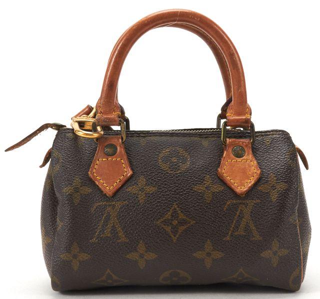 LOUIS VUITTON Brown Monogram Canvas Mini Speedy Bandouliere Crossbody Handbag