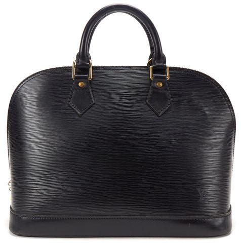 LOUIS VUITTON Black Epi Leather Alma PM Top Handle Handbag
