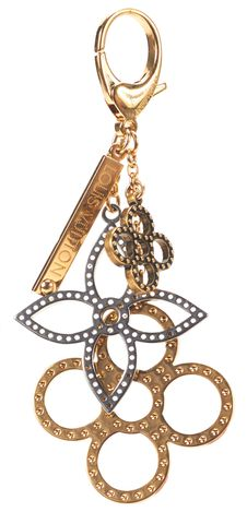 LOUIS VUITTON Authentic Gold Tapage Bag Charm Keychain w/ Box