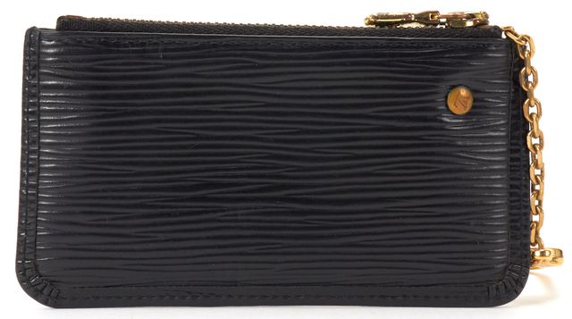 LOUIS VUITTON Black Epi Leather Key Pouch Card Holder Wallet