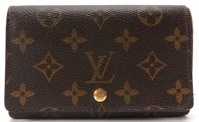 LOUIS VUITTON Brown Monogram Canvas Porte Monnaie Tresor Wallet