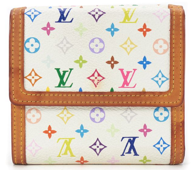 LOUIS VUITTON White Monogram Multi Bifold Compact Wallet