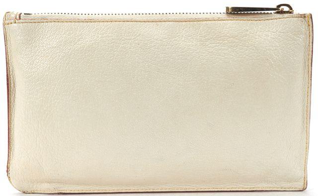 LOUIS VUITTON Ivory Suhali Leather L'inseparable Zip Pouch Clutch Bag