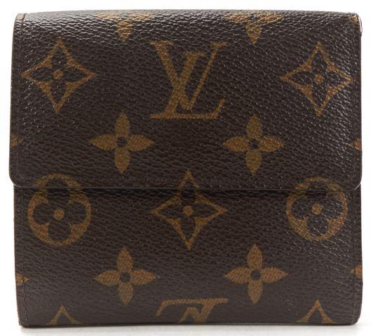 LOUIS VUITTON Brown Monogram Canvas Elise Compact Wallet