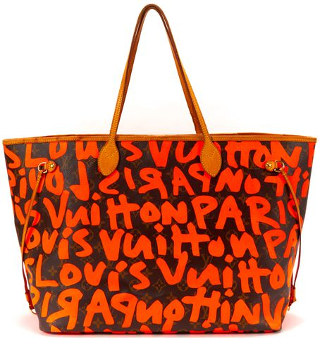 LOUIS VUITTON Limited Edition Brown Monogram Graffiti Neverfull GM Tote Bag