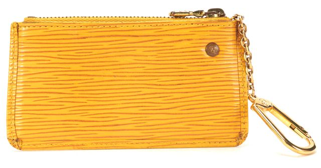 LOUIS VUITTON Yellow Epi Leather Key Pouch Card Holder Wallet
