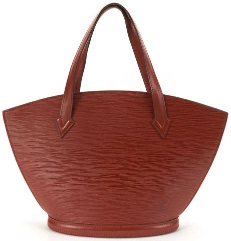 LOUIS VUITTON Brown Epi Leather Saint Jacques PM Shoulder Handbag