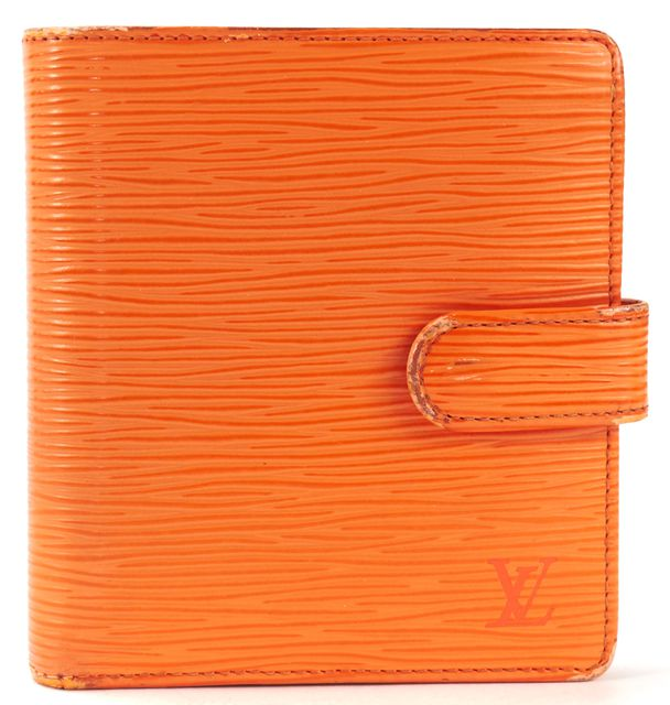 LOUIS VUITTON Orange Epi Leather Bifold Wallet