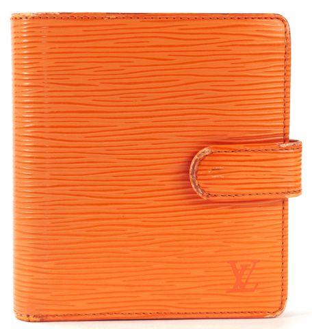 LOUIS VUITTON Orange Epi Leather Bifold Wallet
