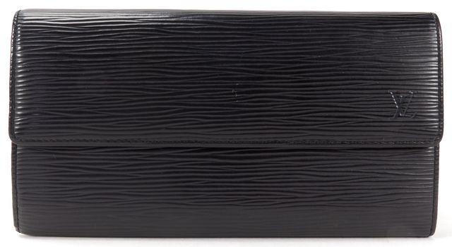 LOUIS VUITTON Black Epi Leather Sarah Long Wallet