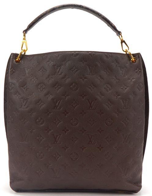 LOUIS VUITTON Brown Monogram Empreinte Leather Metis Tote Handbag