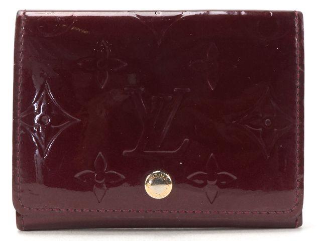 LOUIS VUITTON Burgundy Monogram Vernis Business Card Holder Wallet